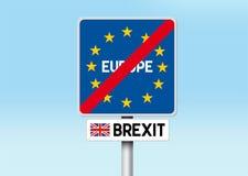 Brexit - удаление Великобритании от Европейского союза иллюстрация вектора