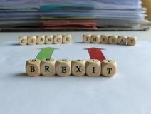 Brexit -机会或威胁 库存图片