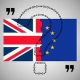 Brexit 欧盟和英国的被分离的旗子 皇族释放例证