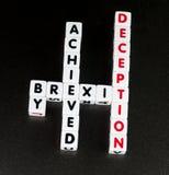 Brexit由欺骗达到了 库存照片