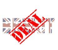 Brexit-Abkommenstempel lizenzfreie abbildung