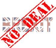 Brexit-Abkommenstempel vektor abbildung