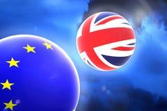 Brexit abstraia o fundo ilustração stock