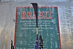 Brexit affisch 2 Wien, Österrike royaltyfria bilder