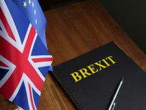 Free Brexit Agreement And Europe Union Flag With UK Flag Stock Photography - 159212932