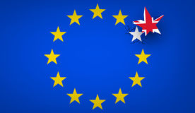 Brexit background with flags. Stock Photography