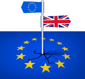 Brexit background with flags. Royalty Free Stock Photos