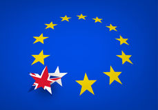 Brexit background with flags. Royalty Free Stock Photography