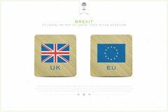 Brexit badges vector illustration