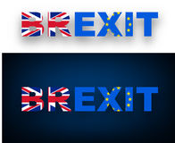 Brexit banner with flags. Royalty Free Stock Photography