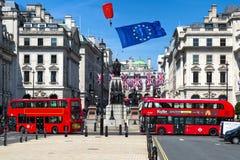 Brexit begrepp i London arkivfoton