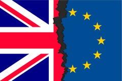 Brexit-Bild zwei Teile Flaggen vektor abbildung