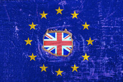 brexit blue european union EU flag Royalty Free Stock Photography