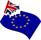 Brexit. breaking of european union Royalty Free Stock Photography