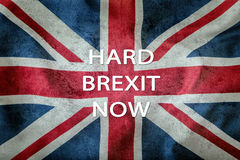 Brexit Brexit ναι Brexit αριθ. Σημαία του Ηνωμένου Βασιλείου και της Ευρωπαϊκής Ένωσης Βρετανική σημαία και σημαία της ΕΕ βρετανι Στοκ Φωτογραφία