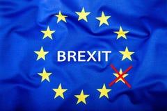 Brexit Brexit ja Brexit Nr Vlaggen van het Verenigd Koninkrijk en de Europese Unie Britse Vlag en de EU-Vlag De Britse vlag van U royalty-vrije stock foto