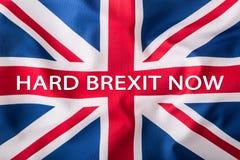 Brexit Brexit ja Ingen Brexit Flaggor av Förenade kungariket och den europeiska unionen UK-flagga och EU-flagga brittisk flaggast Royaltyfri Foto