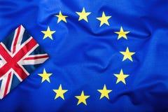 Brexit Brexit Tak Brexit Żadny Flaga Zjednoczone Królestwo i Europejski zjednoczenie UK flaga i UE flaga brytyjczycy bandery euro Zdjęcia Royalty Free