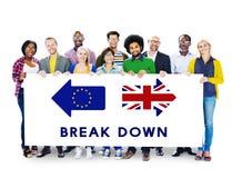 Brexit Britain Leave European Union Quit Referendum Concept Stock Image