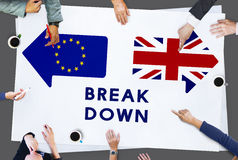 Brexit Britain Leave European Union Quit Referendum Concept Stock Images