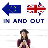 Brexit Britain Leave European Union Quit Referendum Concept royalty free stock images