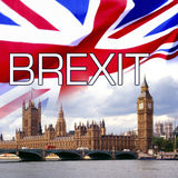 BREXIT - Britains exit from the Europen Union. BREXIT - Britain pulling out of the European Union - Palace of Westminster - Houses of Parliament Royalty Free Stock Photo