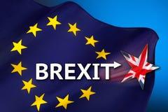 BREXIT - Britannien - europeisk union Arkivbilder