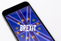 Brexit. British flag with European Union Stock Photography