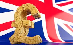 BREXIT - broken pound sign Stock Image