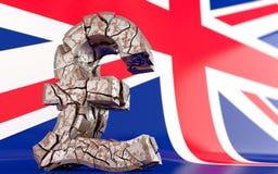 BREXIT - broken pound sign Stock Photos