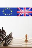 Brexit chess.  royalty free stock images