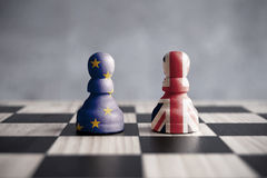 Brexit chess concept Royalty Free Stock Images