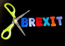 Brexit cięcia zdjęcia stock