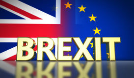 Brexit Concept Banner Royalty Free Stock Images