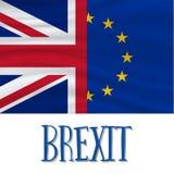 Brexit, concept de ondulation de drapeaux illustration libre de droits