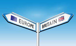 Brexit - concept de poteau indicateur illustration stock