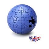Brexit concept puzzle sphere Stock Photo