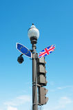 Brexit concept with traffic sign post Stock Photography
