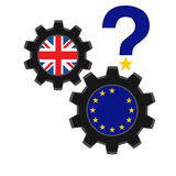 Brexit concept. Brexit vector illustration.European Union and England torn flags.Brexit cracks. United Kingdom exit from europe vector.Brexit concept. British Stock Photo