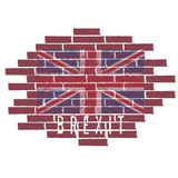 Brexit concept vector illustration  United Kingdom flag on t Stock Photography