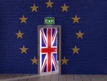 Brexit conceptual illustration vector illustration