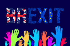 Brexit cracks Text . United Kingdom exit from europe relative image. Brexit named politic process. Referendum theme. Art Royalty Free Stock Photos