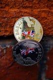 Brexit d'or et d'argent Photo stock