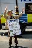 Brexit dagprotest i London royaltyfri bild