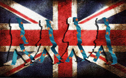 Brexit de schaduw van Europa Royalty-vrije Stock Fotografie