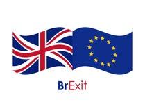 Brexit del diseño eruropean de la unión ilustración del vector