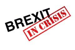 Brexit in der Krise stockbilder