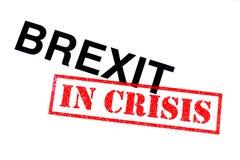 Brexit in der Krise lizenzfreies stockbild
