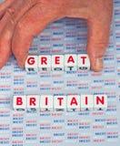 Brexit die 'Groot' uit Groot-Brittannië nemen Stock Foto's