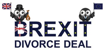 Brexit Divorce Deal. Agreement with the United Kingdom paying fifty billion pounds to the European Union following the 2016 referendum to leave the EU Royalty Free Stock Photos